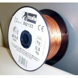 BOBINA  FILO ACCIAIO  DA  0,8 mm  DA  0,8 KG    TELWIN 802133