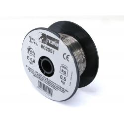 BOBINA  FILO ACCIAIO INOX 0,8MM DA 0,5 KG SALDATRICE GAS TELWIN ORIGINALE 802051